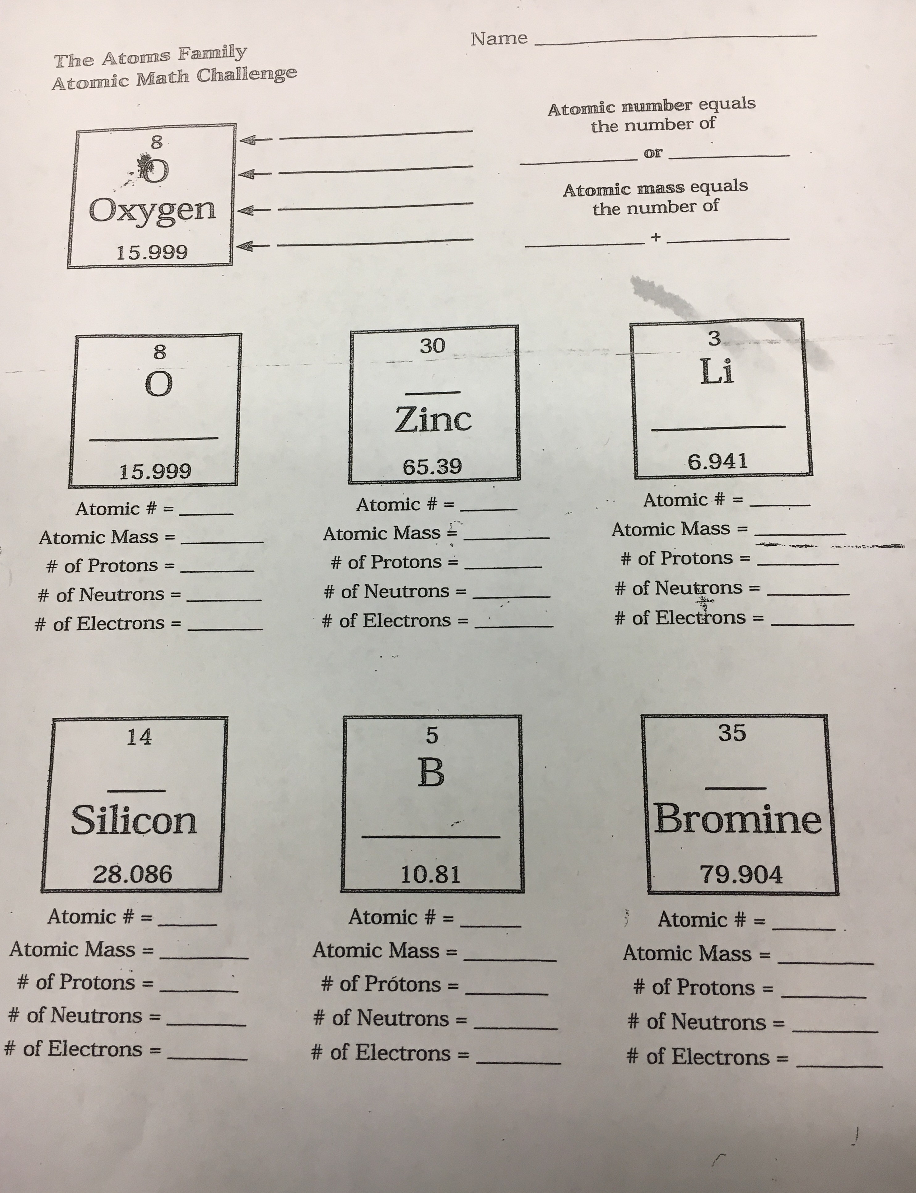 Magnificent Atomic Math Worksheet Answer Key Image - Math Worksheets ...