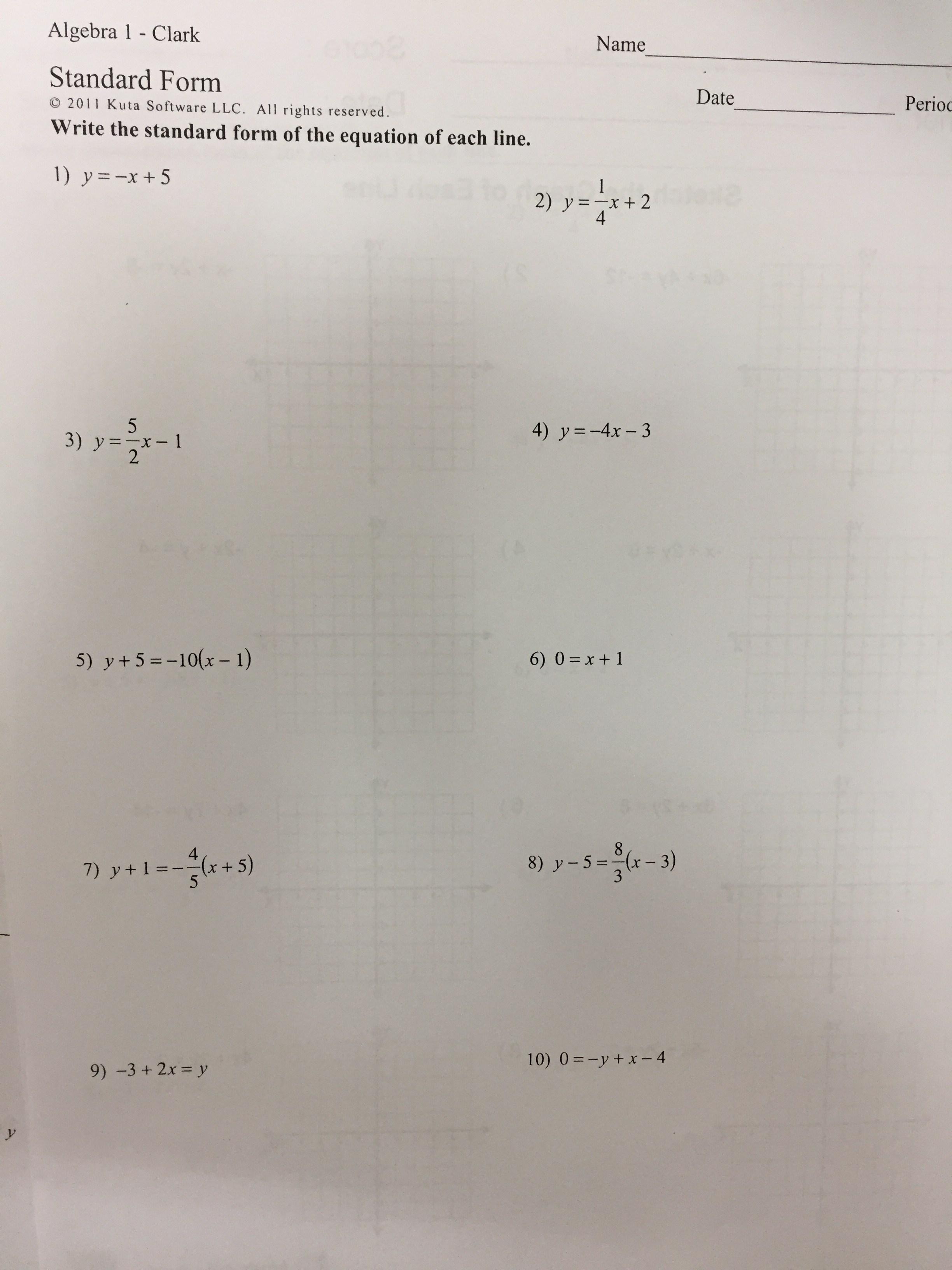 Amazing Kuta Software Infinite Algebra Math Worksheets Ks2 Too Much ...