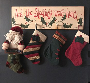 Photo of stockings made by student