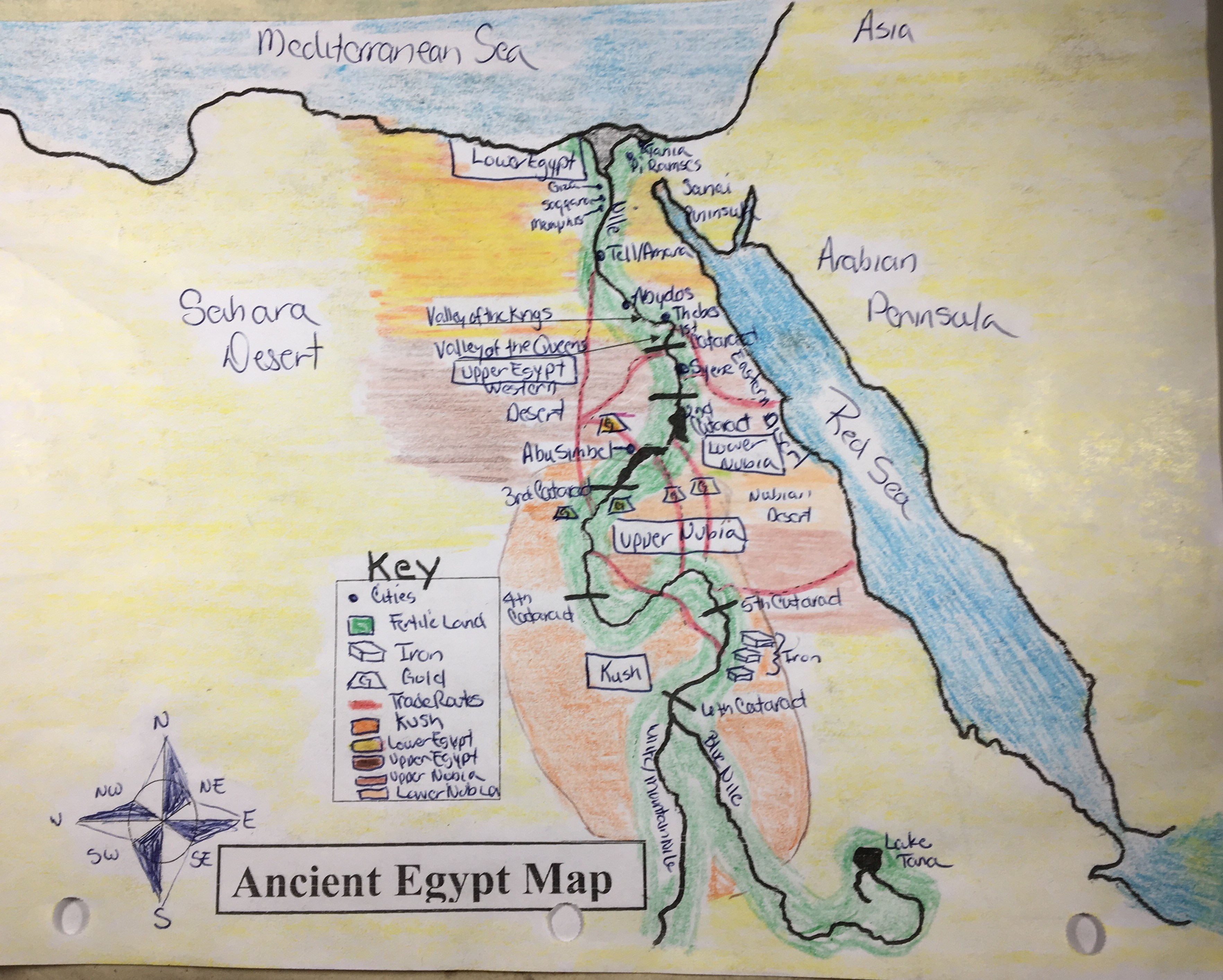 Ancient Egypt Map For 6Th Grade Culver City Middle School