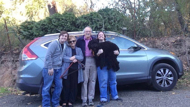 Image of Ms Davison with her family