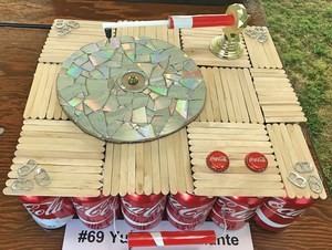 record player made from recycled materials