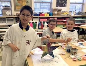 Third graders designing Stars of Hope
