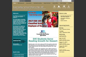 A picture of the old EVSD website