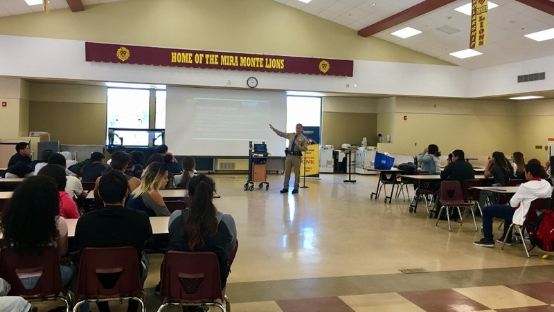 Distracted Driving presentation at Mira Monte High School.