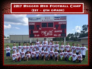 2017 Rugged Red Football Camp   (1st - 6th grade)