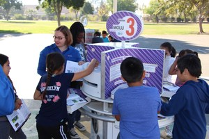 Casa Loma students gather at Mobile Unit 3