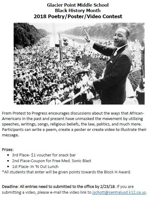 black history month contest