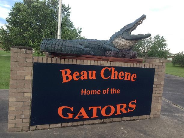 Beau Chene High School Display with Gator