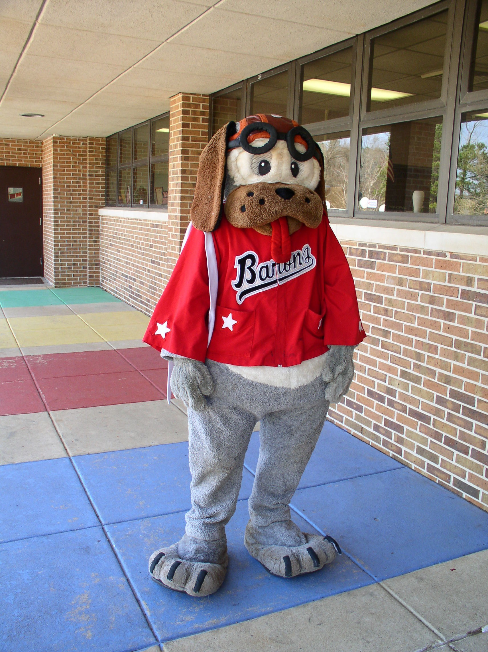 2017 Woodstock Elementary Wellness Walk Barons Mascot