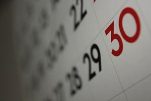 Photo of a calendar=
