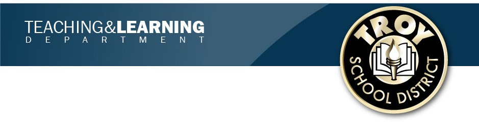 Teaching and Learning Department banner.  This is a page design element.