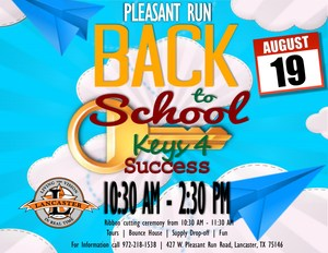 Pleasant Run Elementary Back to School Event Flyer