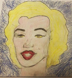 """Marilyn Z"" by Malachi Cobb based on the study of Andy Warhol."