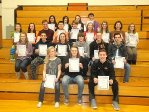 TKHS students were honored for being named students of the month for December.