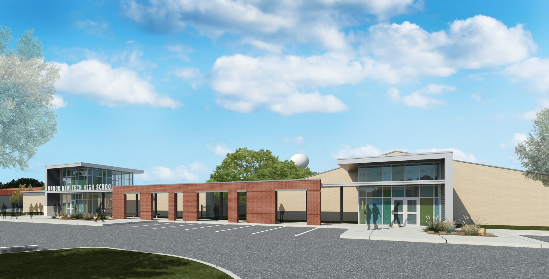Entry way rendering of renovated MNTHS.