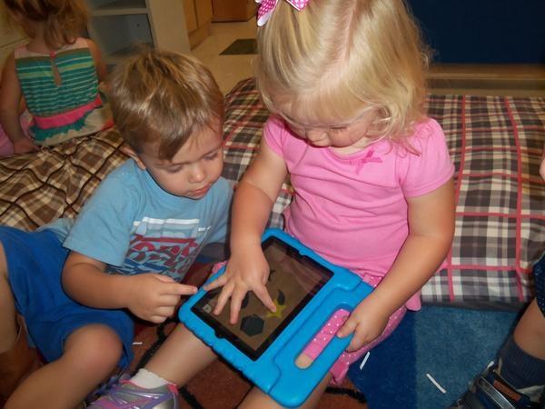 Students on iPad
