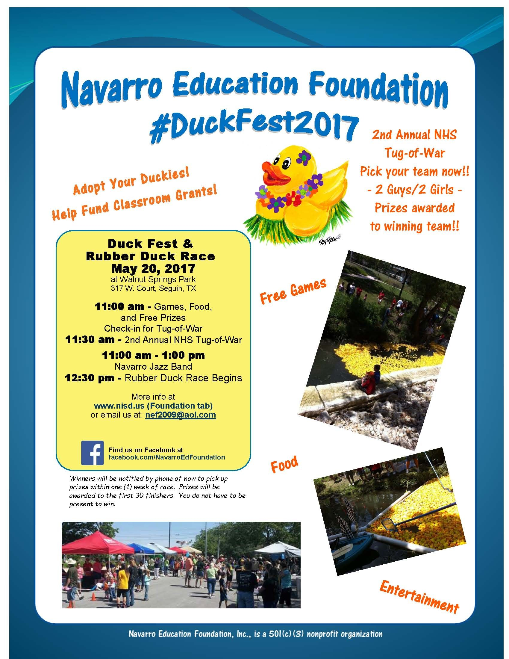 Picture of Duck Fest 2017 poster advertising Duck Fest