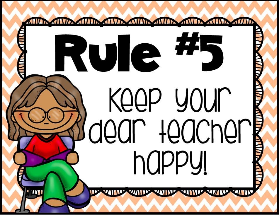 Keep your dear teacher happy