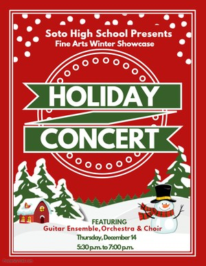 Flyer promoting the Soto holiday concert