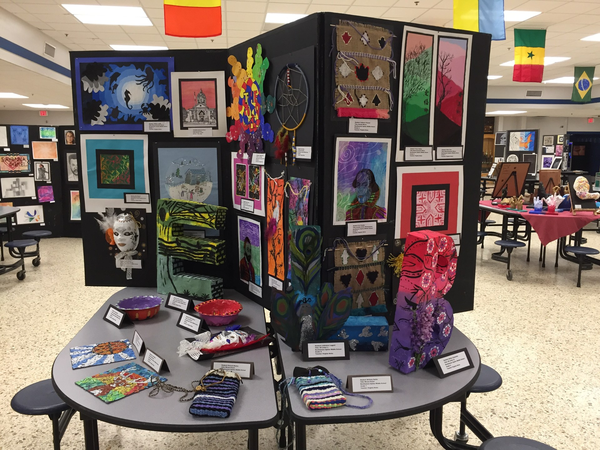 Amazing art by my 6th, 7th and 8th grade students!