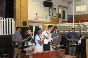 Upper school praise band