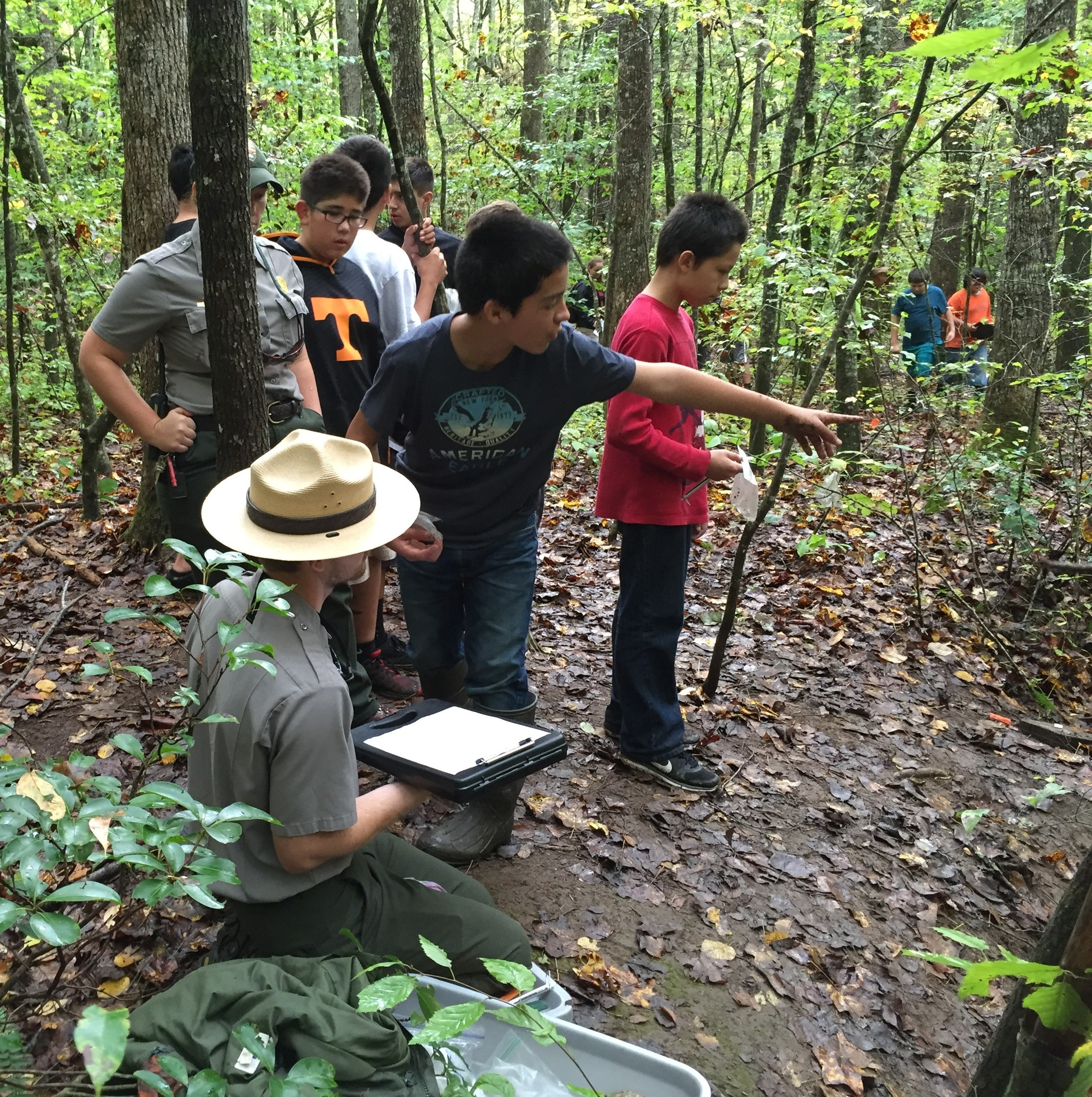 CMS TaG Students During Annual USFS Salamander Count