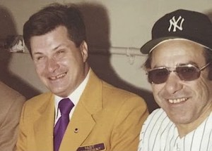 Ed with Yogi Berra