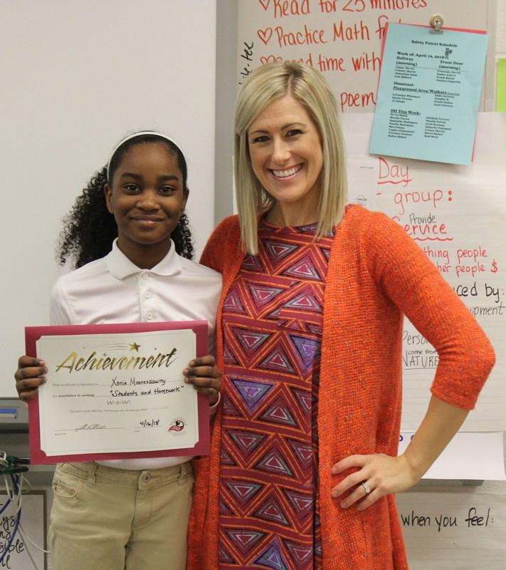 Writer of the Week! (4/13) - This week's WoW winner is Xenia Mooneesawmy, 4th grader from Elm Street Elementary School! Thumbnail Image