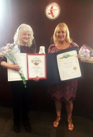 Glenna and Heidi recognized by Hart District Board