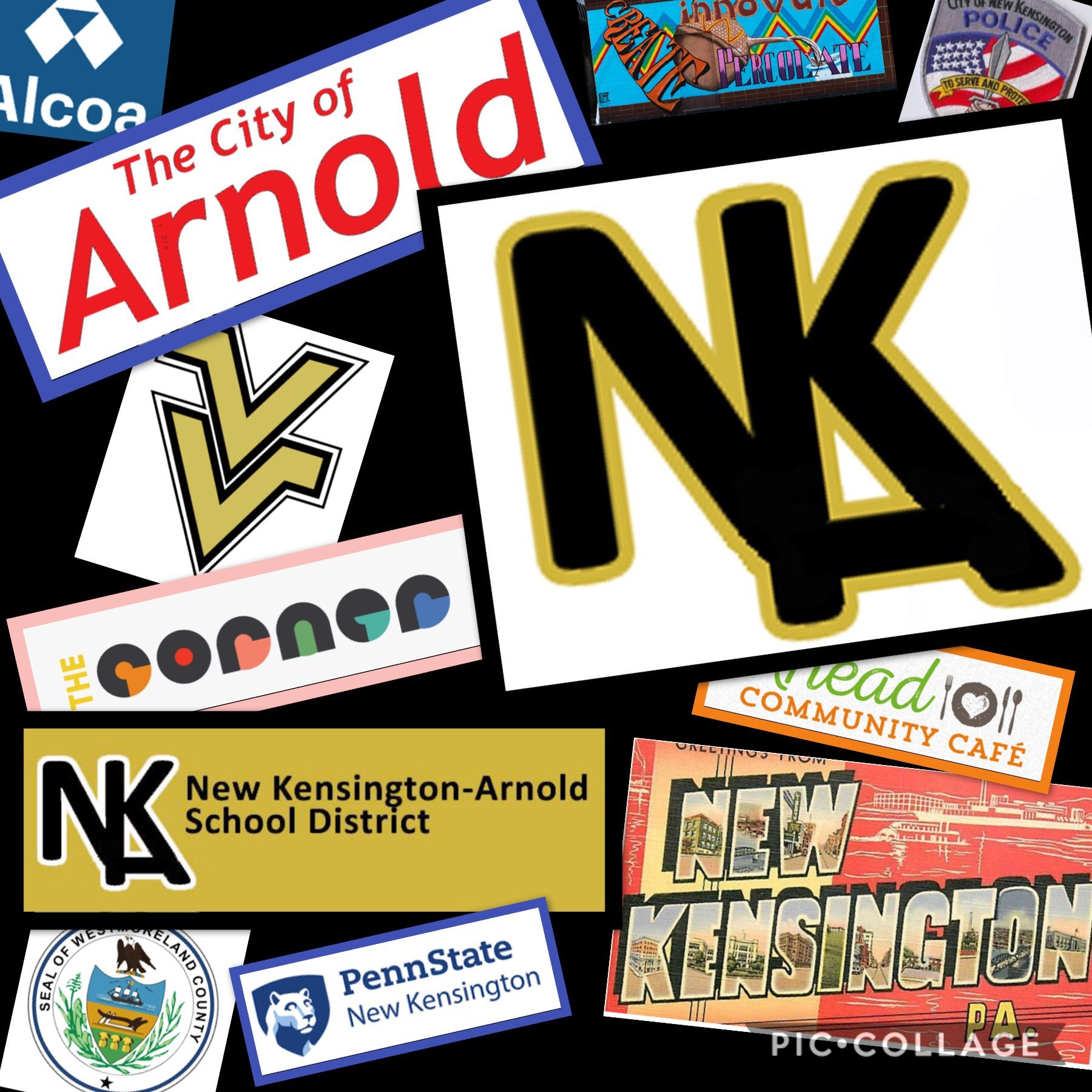 Collage of logos from the New Kensington-Arnold Area