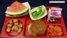 Chicken Patty Lunch on Tray