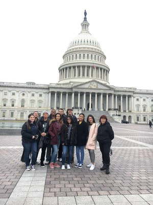 JSA group in front of US Capital during the Winter Congress Debate