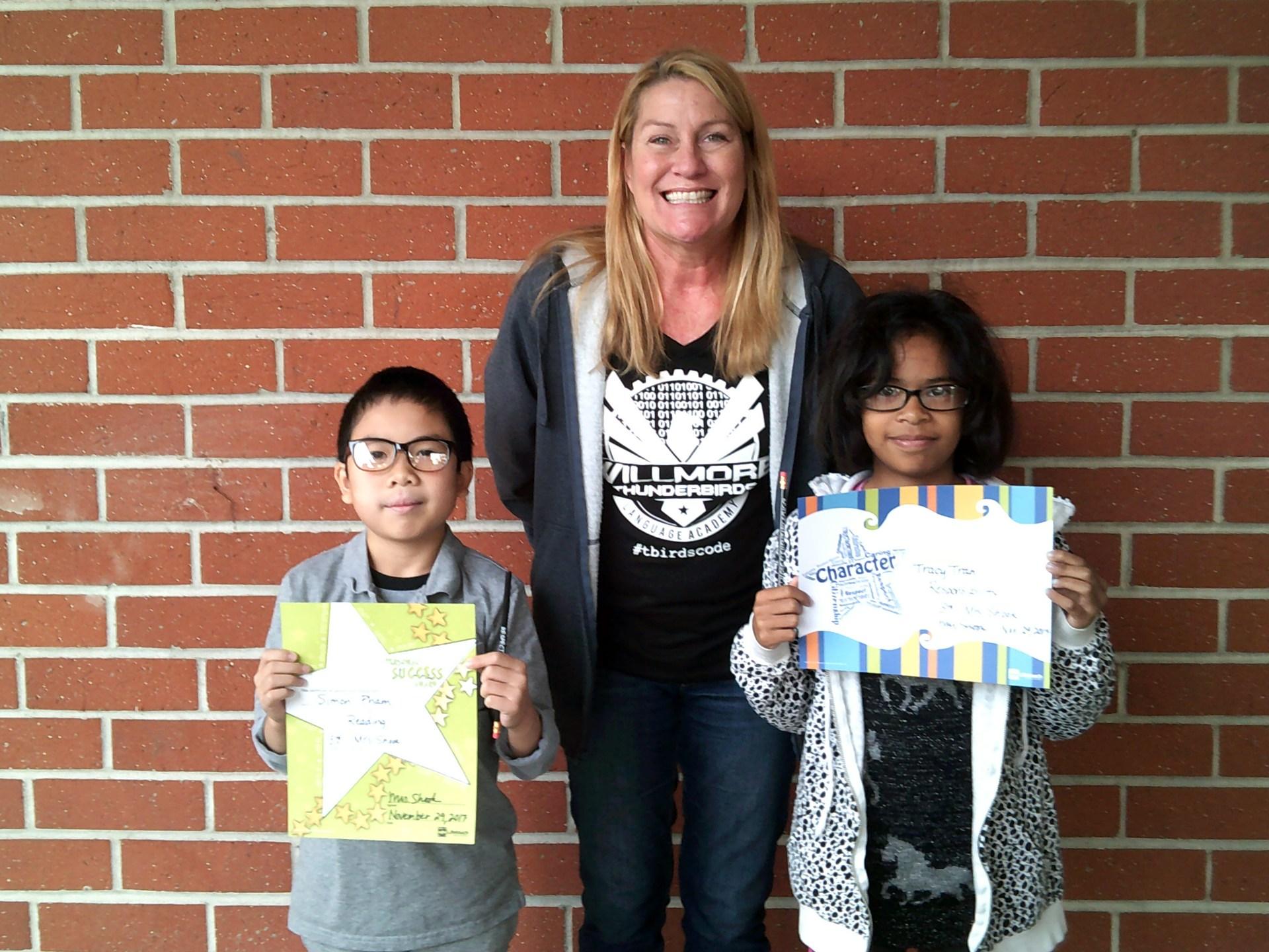 Mrs. Shook's November Honorees