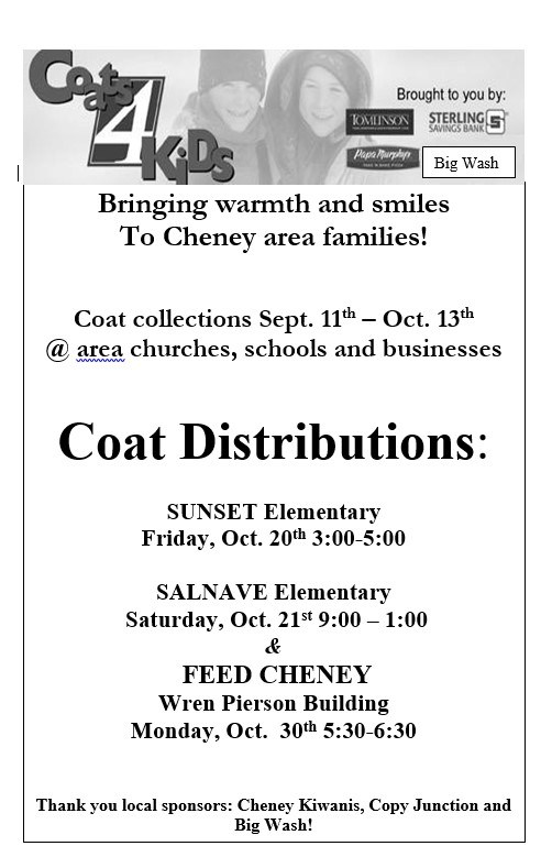 Cheney Community Coat Drive Thumbnail Image