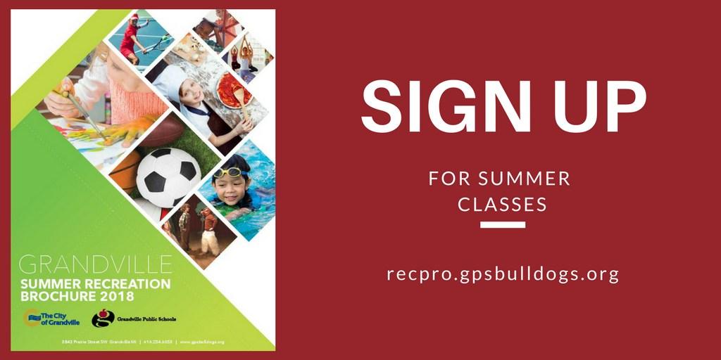 brochure cover 2018 summer Recreation Brochure
