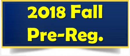 FALL 2018 PRE-REGISTRATION INFORMATION Thumbnail Image