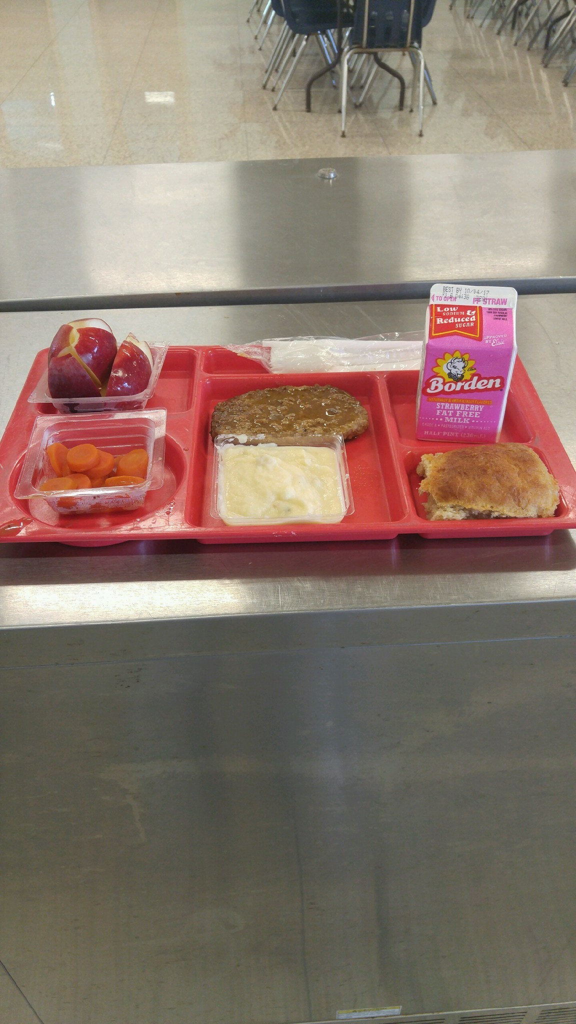 meatloaf lunch tray