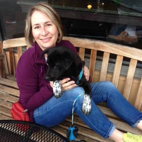 Pam Rissmann with dog