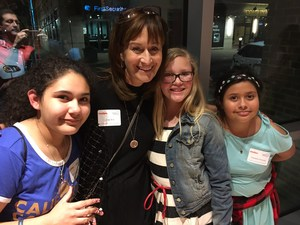 Rebeka, Mrs. Bird, Lynzee, and Marisela at Museum of Discovery March 9.JPG