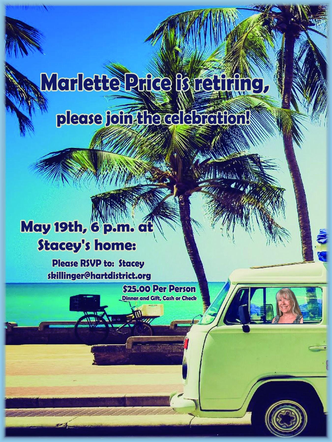 Retirement flyer Marlette image