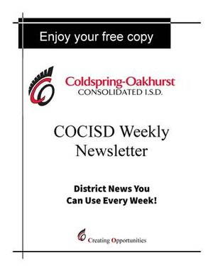 COCISD Newsletter Stand Cover