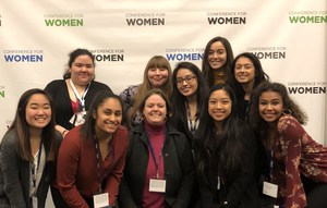Image of Del Mar students at women's conference