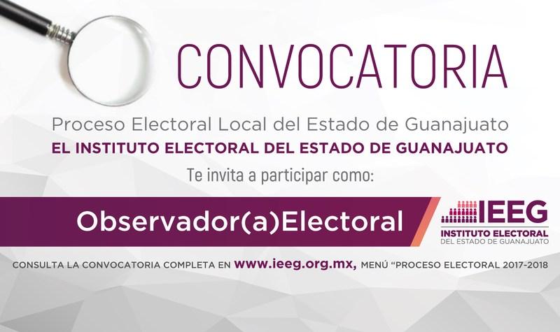 Abre el IEEG convocatoria para participar como observador ciudadano Featured Photo