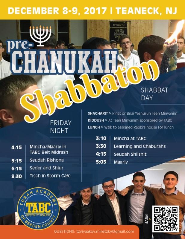 Please join us - Pre-Chanukah Shabbaton Thumbnail Image