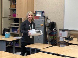 Teachers are moving into their new classrooms.