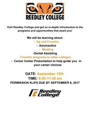 Reedley College announcement.jpg