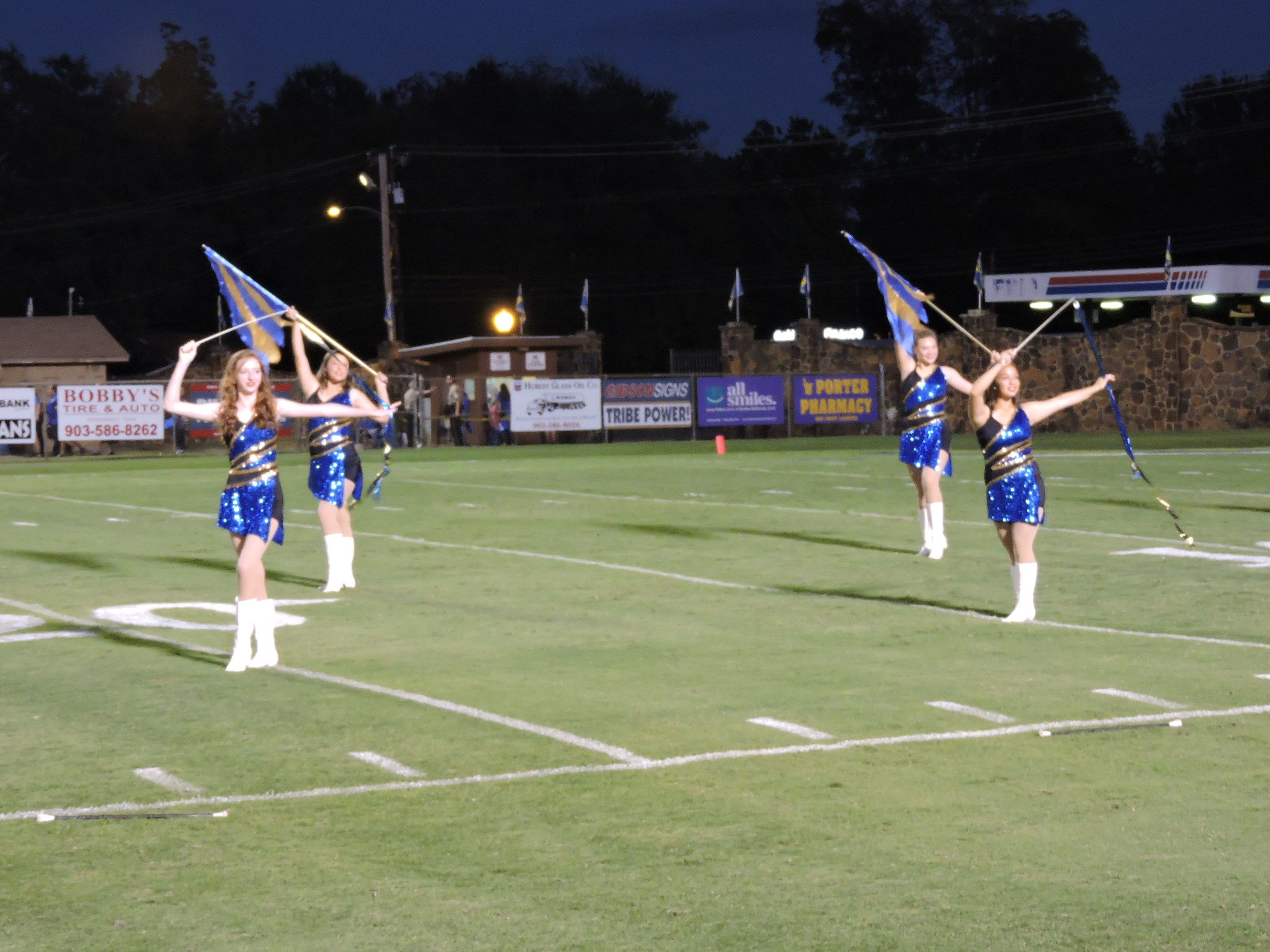 twirlers on the field