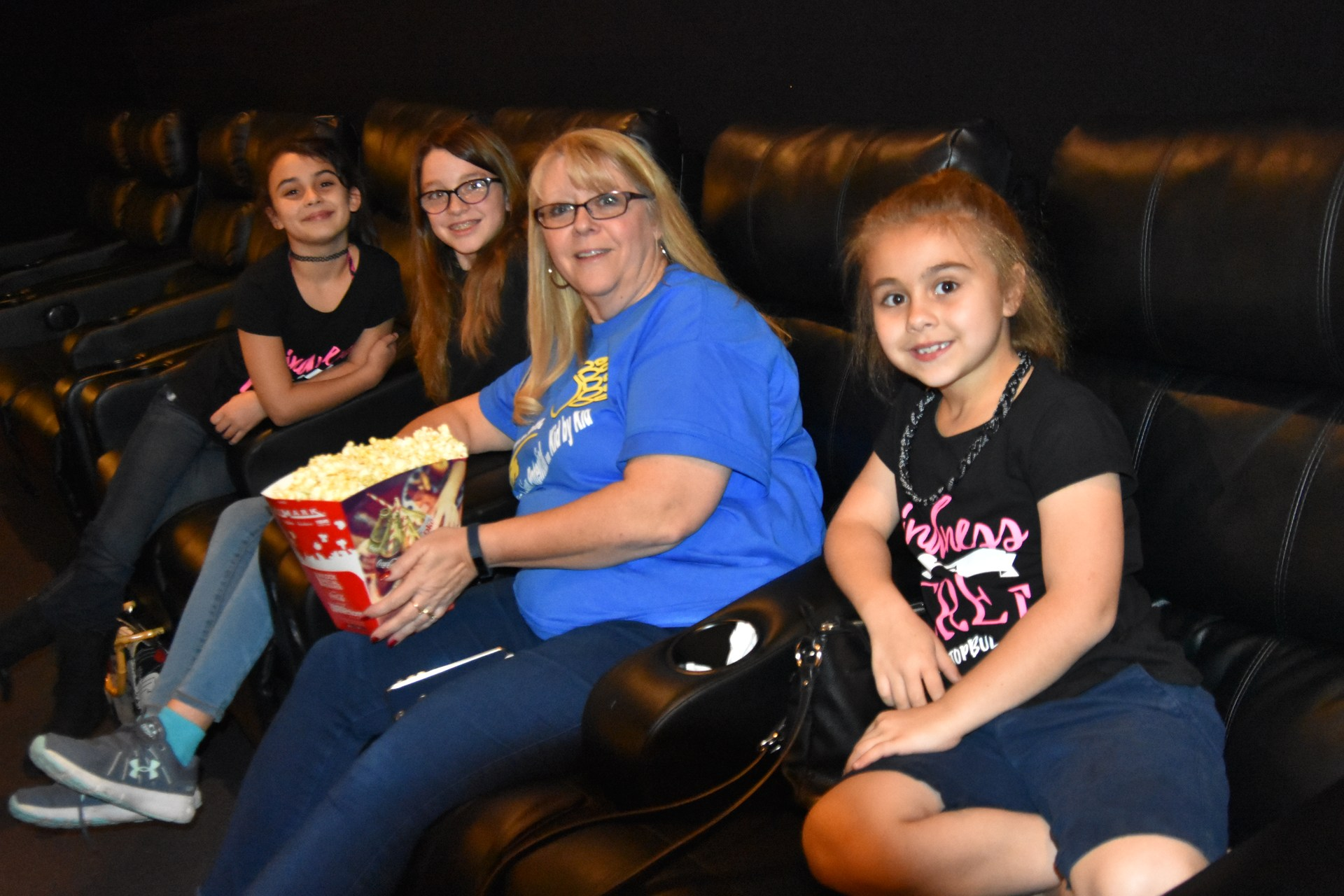 School Board Member Melissa Brown and her family attend the Wonder Movie Night.