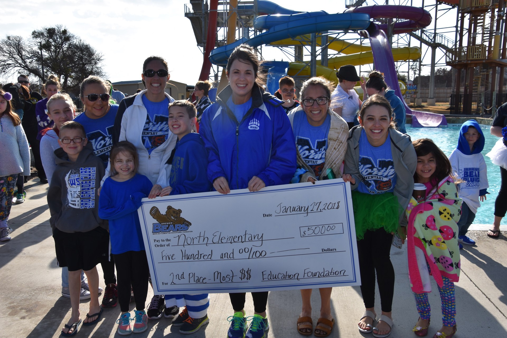 North Elementary was the 2nd place winner in the BRRRewer Bear Plunge fundraiser.